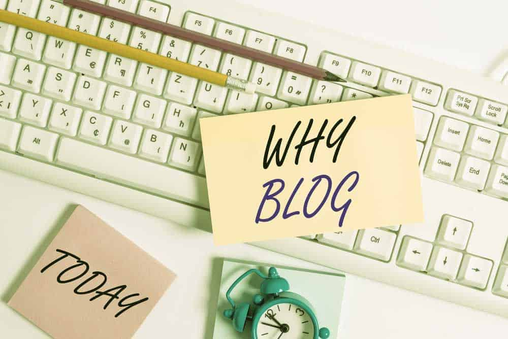 - why start a blog 1